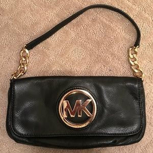 Michael Kors Leather Small Chain Shoulder Flap Bag